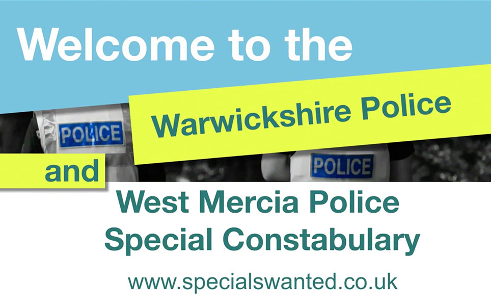 Still from Warwickshire Police video